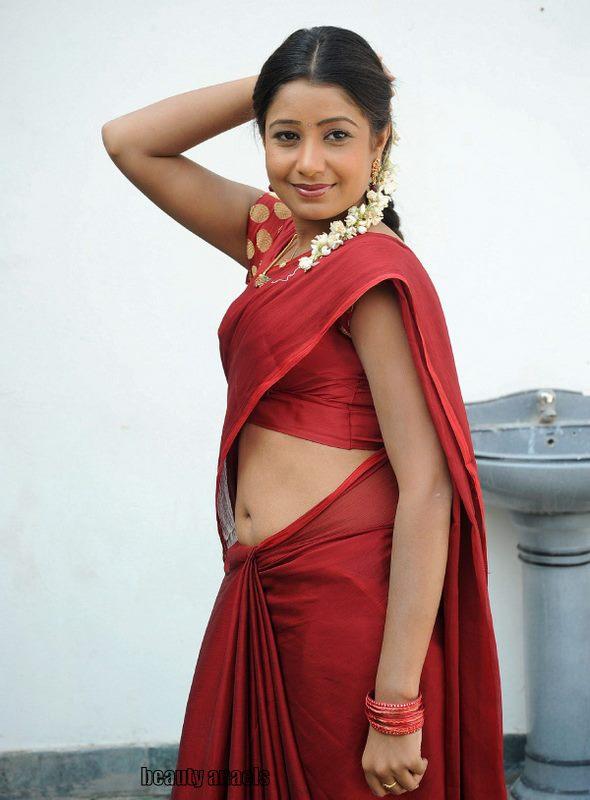Actress Reshmi Hot Red Saree Navel Show Photos  Beautyanaels-5048