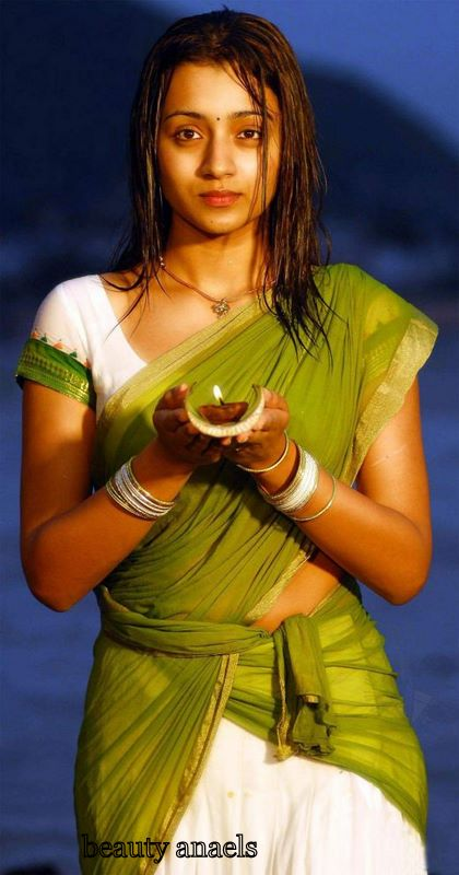 Hot Cute Actress Trisha In Half Saree S Beautyanaels